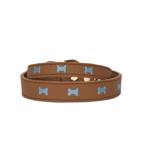 Brown Marshmallow Bone Collar
