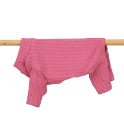 Cable Knit all-in-one Daisy Pink